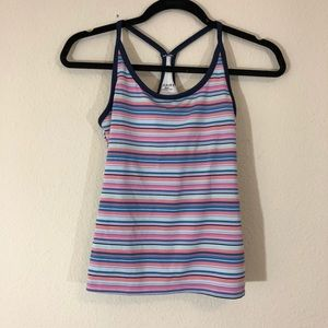 ASPIRE racerback striped workout athletic tank top
